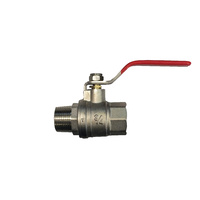 50mm M/F Nickle Plated Brass Ball Valve